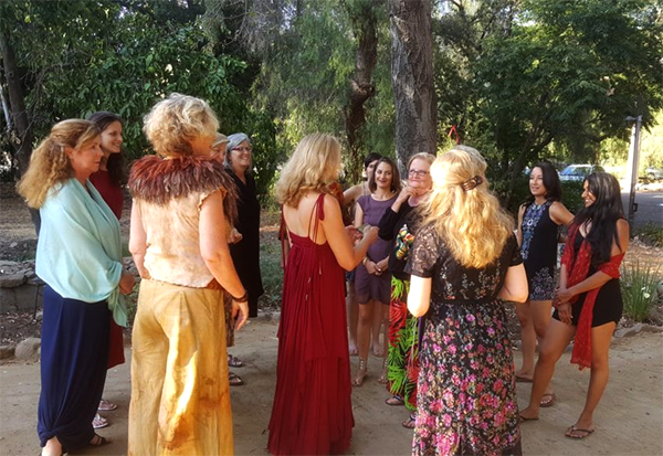 Photo our recent Find Your Voice Stand in Your Power Goddess Retreat in Ojai California